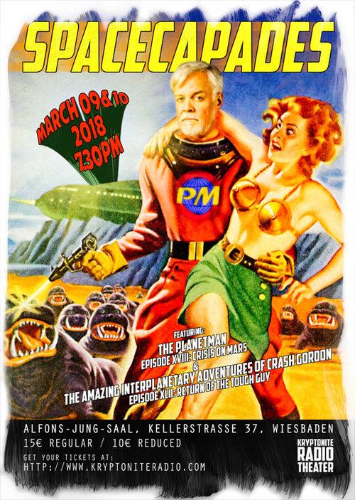 Kryptonite Radio Theater presents SPACECAPADES Copyright 2018 by KRT / Mat Braun